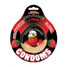 Strawberry Endurance Condom 3pk(individ)