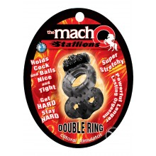 Macho Stallions Dbl Ring Black