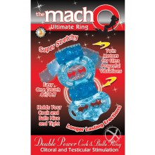 Macho Dbl Power Ring Blue