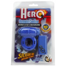 Hero Remote Control Cockring - Blue