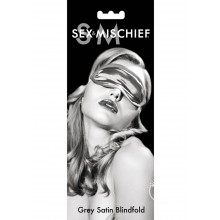 Grey Satin Blindfold