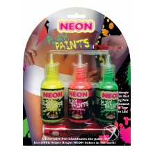 Neon Body Paints Asst 3pk