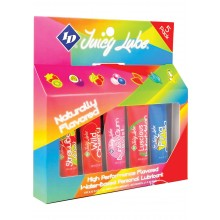 Juicy Lube Assorted 12ml Tubes 5 Pack