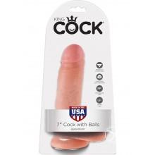 Kc 7 Cock W/balls Flesh