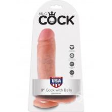 Kc 8 Cock W/balls Flesh