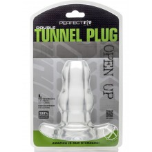 Double Tunnel Plug Large Clear