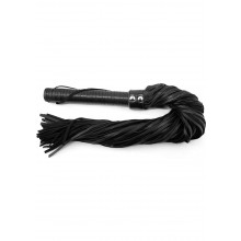 Rouge Leather Handle Leather Flogger Blk