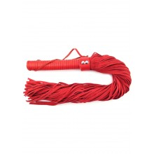 Rouge Suede Flogger Leather Handle Red