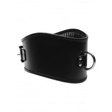 Padded Leather Lock Posture Collar