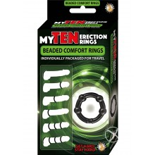 My Ten Erection Rings Beaded Comf Rings