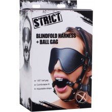 Strict Eye Mask Harness W/ball Gag
