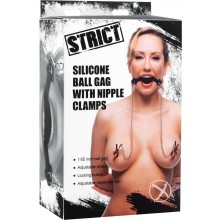 Strict Silicone Ball Gag/nipple Clamps