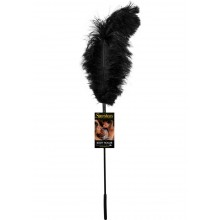 Ostrich Feather Black Tickler