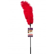 Ostrich Feather Red Tickler