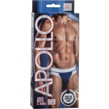 CalExotics Apollo Jock With Cock Ring Blue Large - Xtra Large Hush USA
