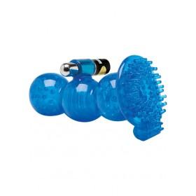 Topco TLC CyberSkin 5X Royal Grip Stroker 5.5 Inch Blue